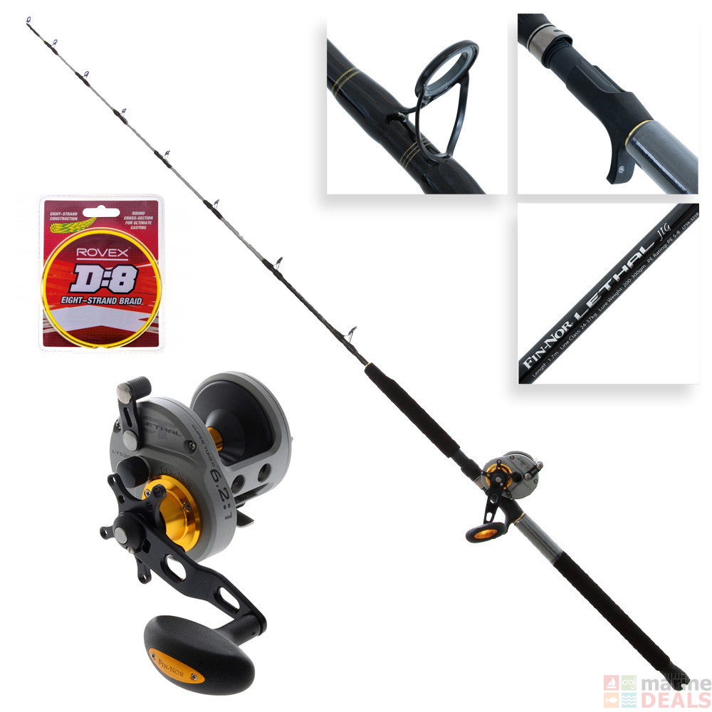 Fin-Nor Lethal LTC20 OH Star Drag Overhead Fishing Reel