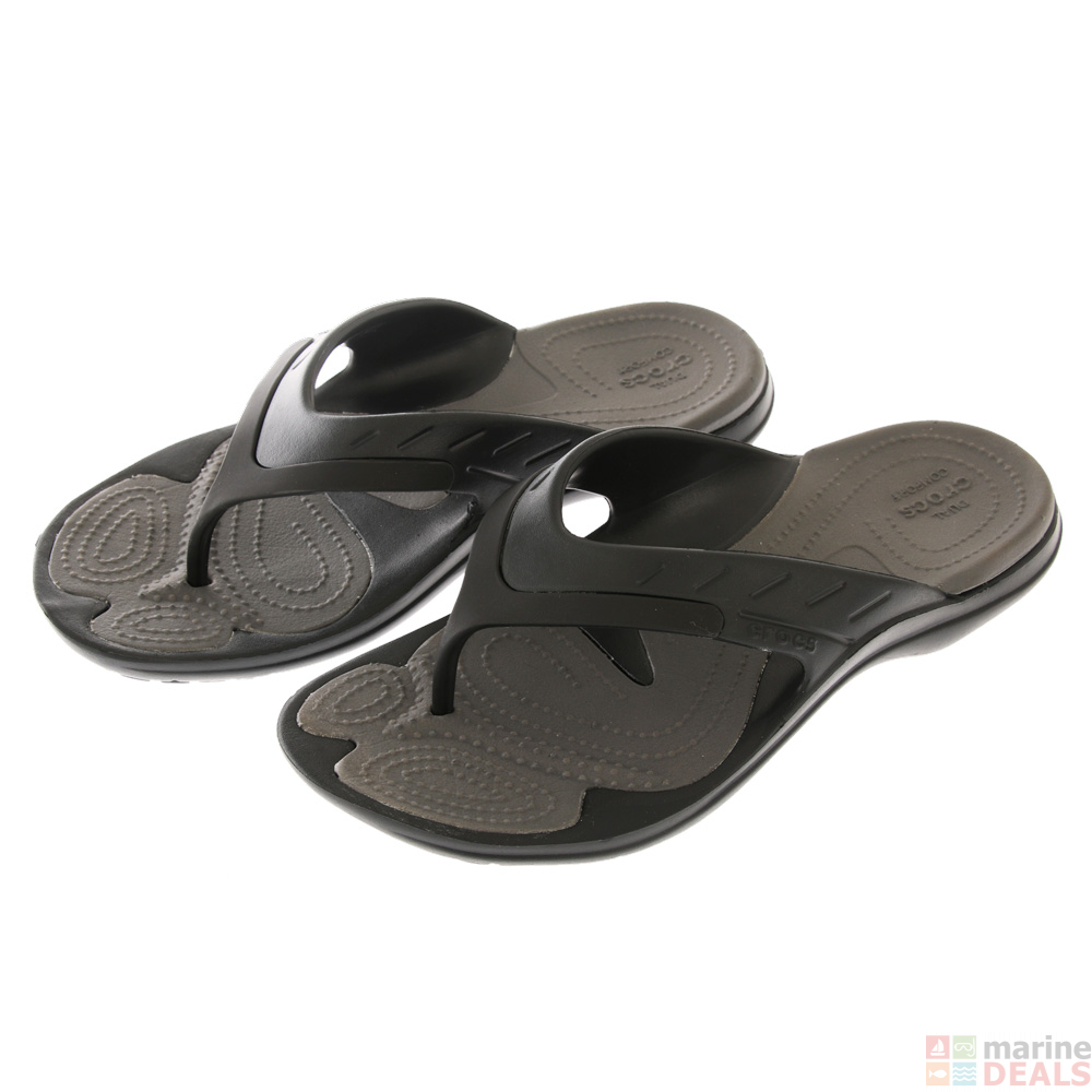 a001e7e707d Buy Crocs MODI Sport Flip Jandals Black/Graphite online at  Marine-Deals.com.au