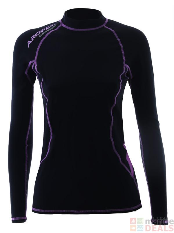 Buy Aropec Compression Womens Long Sleeve Top Black Purple L online at  Marine-Deals.com.au 17d57a94d