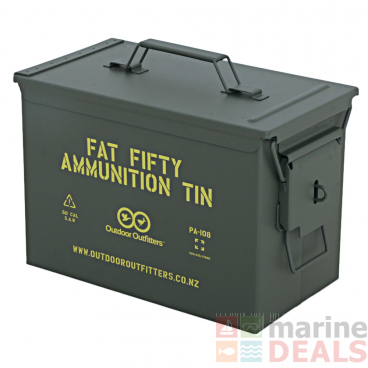 Outdoor Outfitters Fat Fifty Ammo Box with Padlock Latch X1
