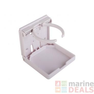 Folding Drink Holder Plastic White