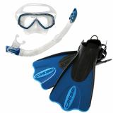 Cressi Palau Dive Mask Snorkel and Fins Set Blue/Azure