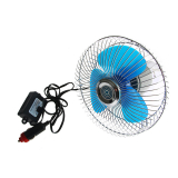 Round Oscillating Single Speed Car Fan 6in 12V