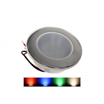 Multicolour Ceiling Light with Stainless Steel Trim Ring 12v