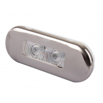 Stainless LED Waterproof Courtesy Lights 0.21w Red
