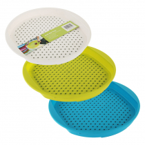 Round Non-Slip Serving Tray - Assorted Colours