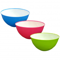 Plastic Salad Bowl 3.8L - Assorted Colours