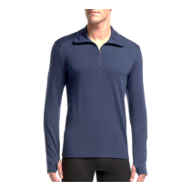 Icebreaker Mens Merino Thermal Long Sleeve Half Zip Admiral