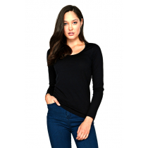 Icebreaker Merino Womens Oasis Long Sleeve Shirt Scoop Black M