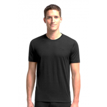 Icebreaker Merino Mens Tech Lite Short Sleeve Shirt Black M