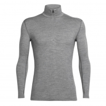 Icebreaker Mens Merino Tech Top Long Sleeve Half Zip Shirt Gritstone Heather XL