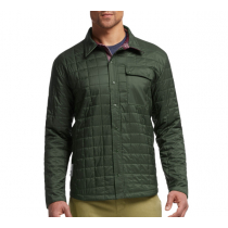 Icebreaker Mens MerinoLOFT Helix Long Sleeve Reversible Shirt Conifer/Redwood/Awesome XL
