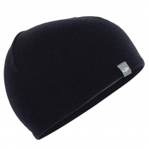 Icebreaker Merino Reversible Pocket Hat Black/Gritstone Heather