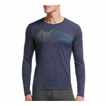 Icebreaker Mens Merino Thermal Long Sleeve Crewe Equalizer Fathom Heather XXL