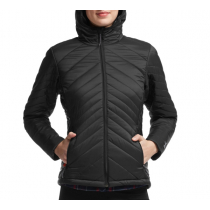 Icebreaker Womens Stratus Long Sleeve Zip Hood Jacket Black/Monsoon/Black XL