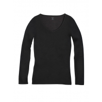 Icebreaker Womens Merino Siren Long Sleeve Shirt Sweetheart Black