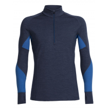 Icebreaker Mens Merino Winter Zone Long Sleeve Half Zip Fathom Heather/Pelorus 2XL