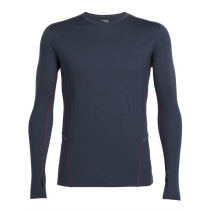Icebreaker Mens Merino Factor Long Sleeve Stealth/Oxblood M