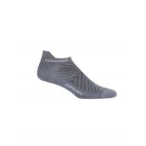 Icebreaker Mens Merino Run+ Ultralight Micro Socks Twister Heather/White M