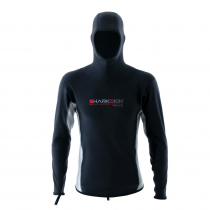 Sharkskin Chillproof Mens Long Sleeve Thermal Top with Hood