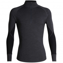 Icebreaker Merino Mens 260 Zone Long Sleeve Half Zip Jet Heather/Black