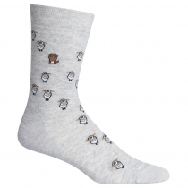 Icebreaker Lifestyle Fine Gauge Crew Sheep Herding Socks Blizzard Heather L/XL