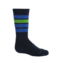 Icebreaker Kids Ski Medium OTC Socks Stripe Midnight Navy/Surf