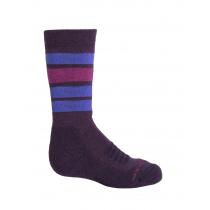 Icebreaker Kids Ski Medium OTC Socks Stripe Lotus/Mystic