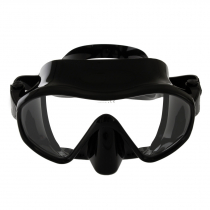 Aropec Schist Single Lens Frameless Adult Dive Mask Black Silicone