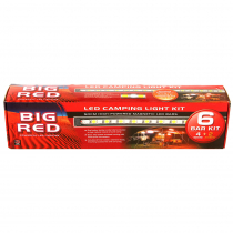 Big Red 6 Bar LED Camping Light Kit 42w