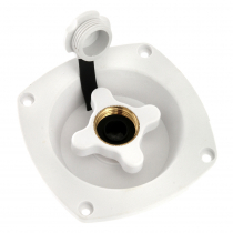 Seaflo Water Inlet with Pressure Regulator White