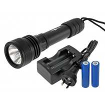 AquaMonde Pro Cree LED Dive Torch Kit 2000 Lumens