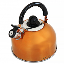 Kiwi Camping Deluxe Whistling Kettle Orange 2.5L