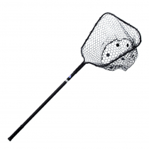 Nacsan Rubber Landing Net with Grip Medium Black