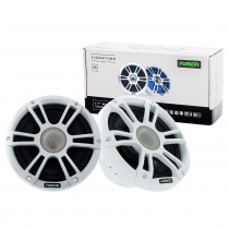 Fusion Signature 2-Way Coaxial Sports White Marine Speakers with LED 7.7in 280W