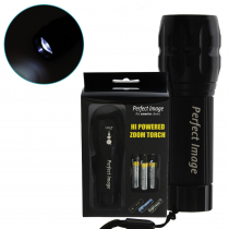 Perfect Image CREE High Power Zoom Torch Black 180lm