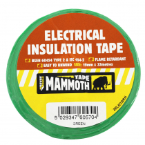 Electrical Insulation Tape Green 19mm x 33m