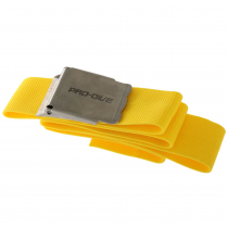 Pro-Dive Webbed Dive Weight Belt with Stainless Buckle 1.3m Fluoro Yellow