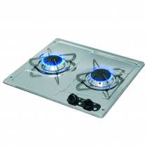 CAN 2 Burner Hob Stainless Steel Marine