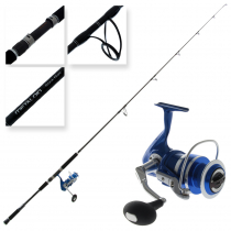 Okuma Azores Blue 6500 and Metaloid Saltwater Spin Combo 8ft 3in PE4-8 2pc