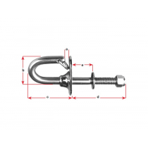 BLA Ski Tow Hook - Stainless Steel