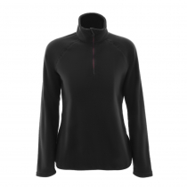 Musto Womens Crew Half Zip Microfleece Shirt Black