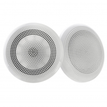 Fusion EL Series Shallow Mount Marine Speakers 6.5in 80W White