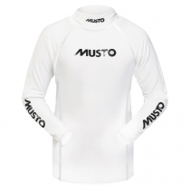 Musto Junior Long Sleeve Rash Vest White /Silver Junior L