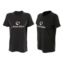 LegaSea X Barkers Fish Logo Womens T-Shirt Black