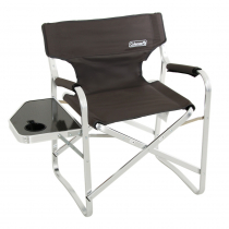 Coleman Directors Plus Chair with Side Table - Aluminium