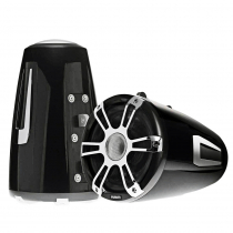 Fusion Coaxial Wake Tower Sports Speakers with LED 8.8in 330W Black
