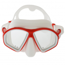 Mares Sealhouette Adult Dive Mask Red/White