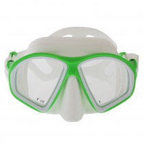 Mares Sealhouette Adult Dive Mask White/Lime