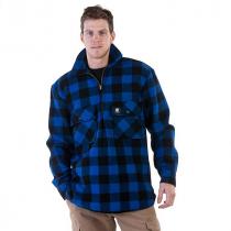 Swanndri Mens Ranger Pure Wool Bush Shirt Blue Black